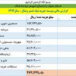 گزارشات مالی 1392